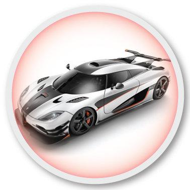 109 Sports car no 1 sticker (klistermärke till Freestyle Libre sensor)