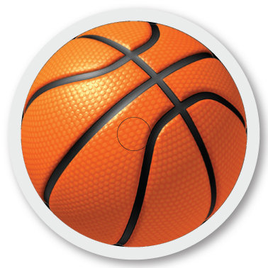 133 Basketball sticker (klistermärke till Freestyle Libre sensor)
