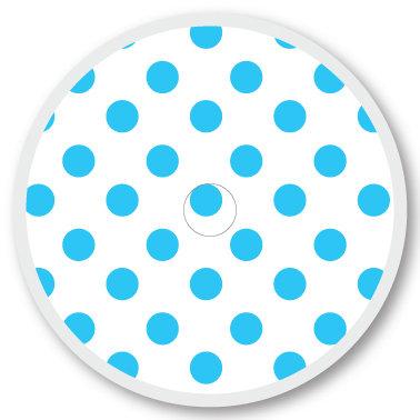 119 White and blue dots sticker (klistermärke till Freestyle Libre sensor)