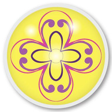 102 Yellow pattern sticker (klistermärke till Freestyle Libre sensor)