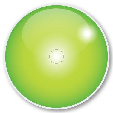 136 LS Green sticker (klistermärke till Freestyle Libre sensor)