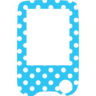 503 Blue n white dots reader