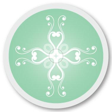 131 Mint Green pattern sticker (klistermärke till Freestyle Libre sensor)