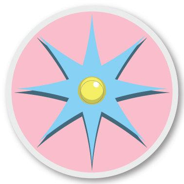 118 Blue flower sticker (klistermärke till Freestyle Libre sensor)