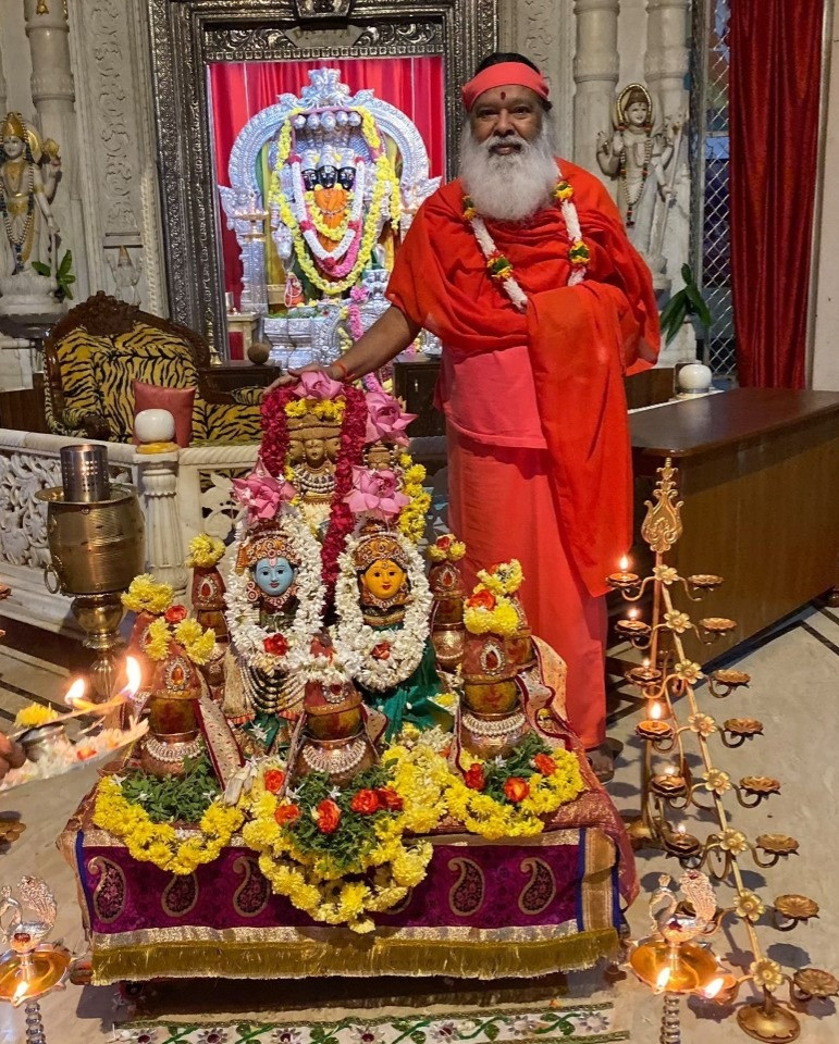 Sri Swamiji and Anagha Vrata Altar