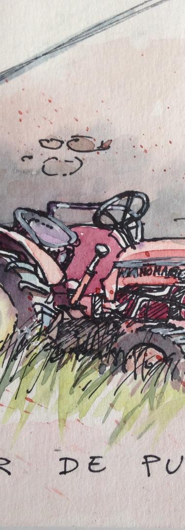 Tracteur . Pyrénèes