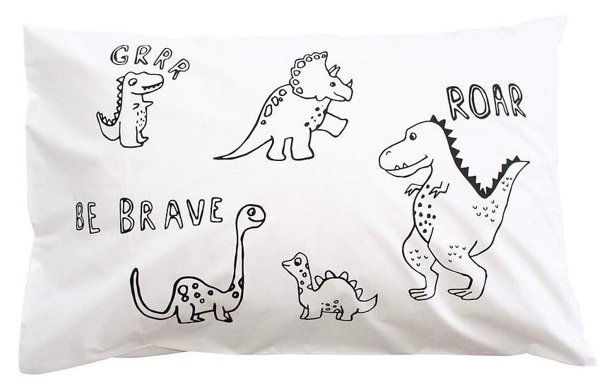 Henry & Co Be Brave Dino Pillowcase