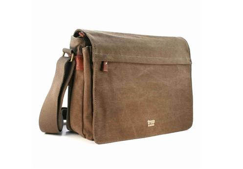 Troop London Classic Flap Front Messenger Bag Large