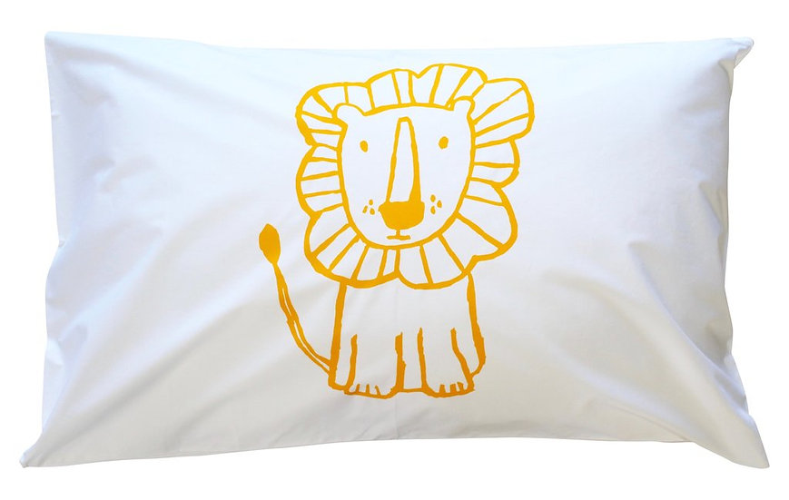 Henry & Co Yellow Lion Pillowcase