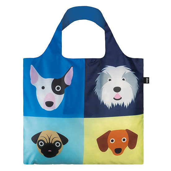 LOQI Shopping Bag - Cats & Dogs Collection - Dogs