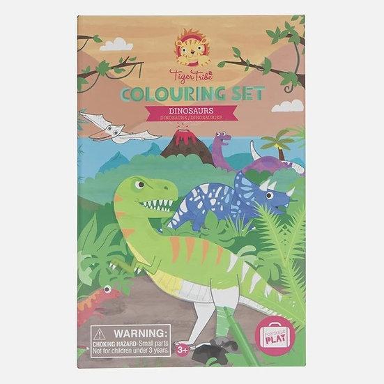 Tiger Tribe Colouring Set - Dinosaur