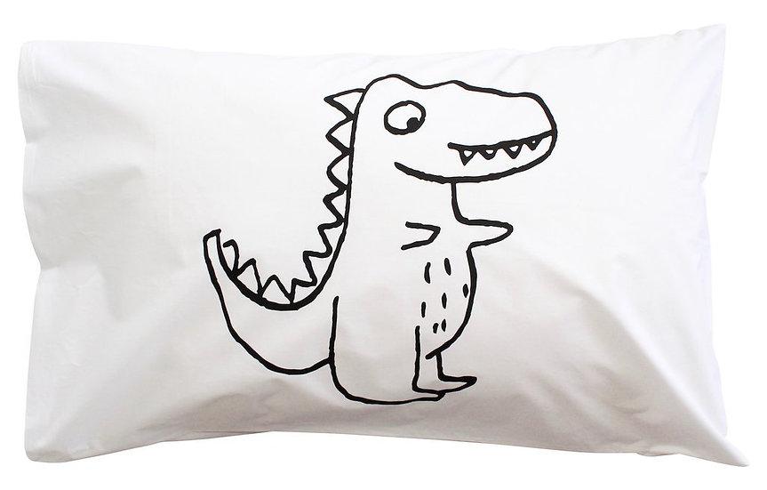 Henry & Co Black Roar Dino Pillowcase