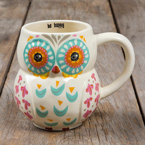 Natural Life Folk Mug -Owl