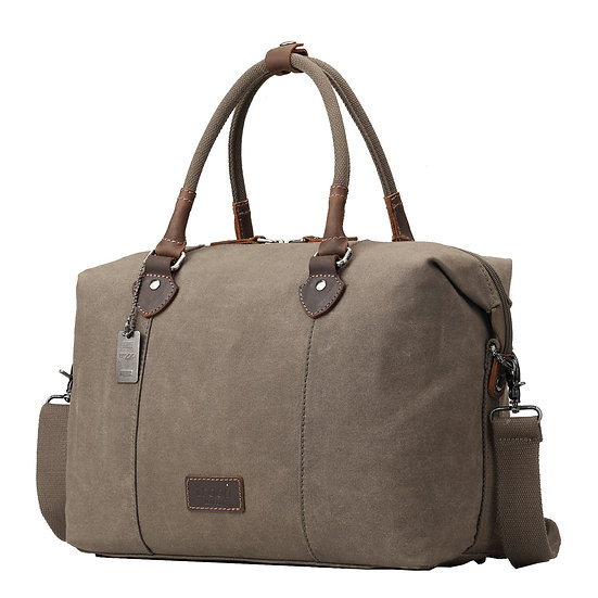 Troop London Edison Waxed Canvas Holdall