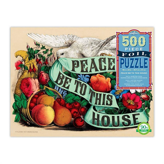 Eeboo Peace Be To This House Jigsaw Puzzle -500pc