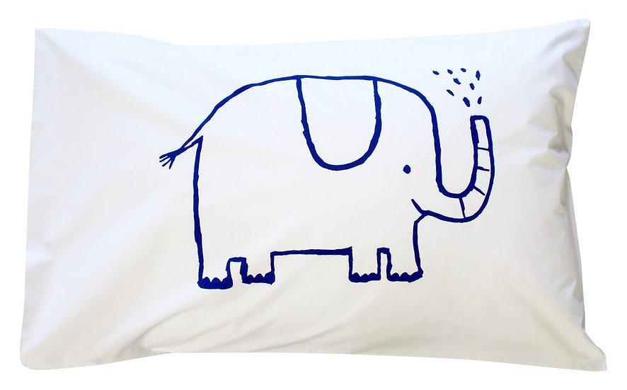 Henry & Co Navy Elephant Pillowcase