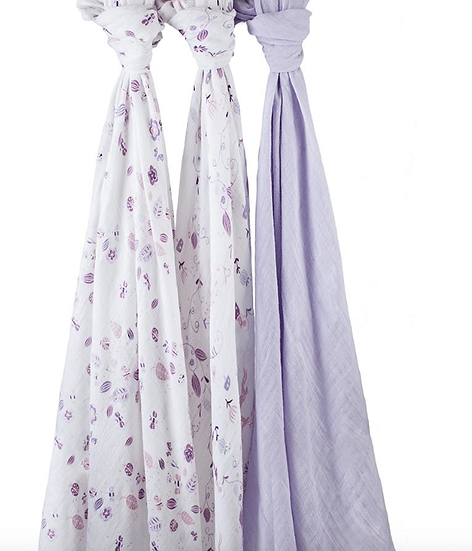 Aden & Anais 3 pack Organic Cotton Swaddles - Once upon A time