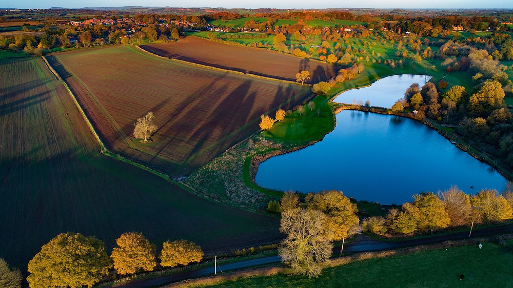 drone shadows landscape derbyshire