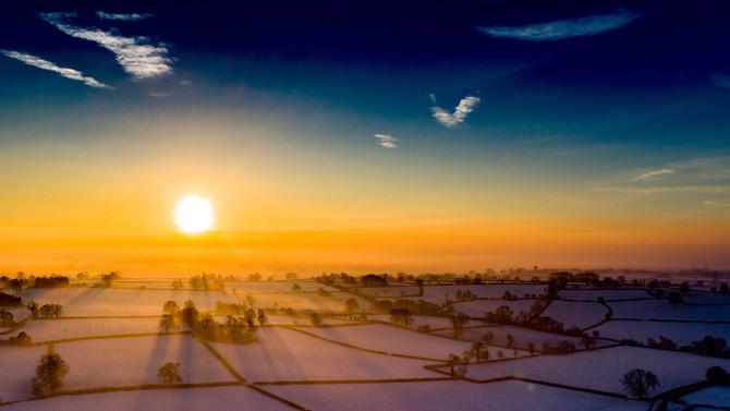 Snowy Derbyshire Sunrise