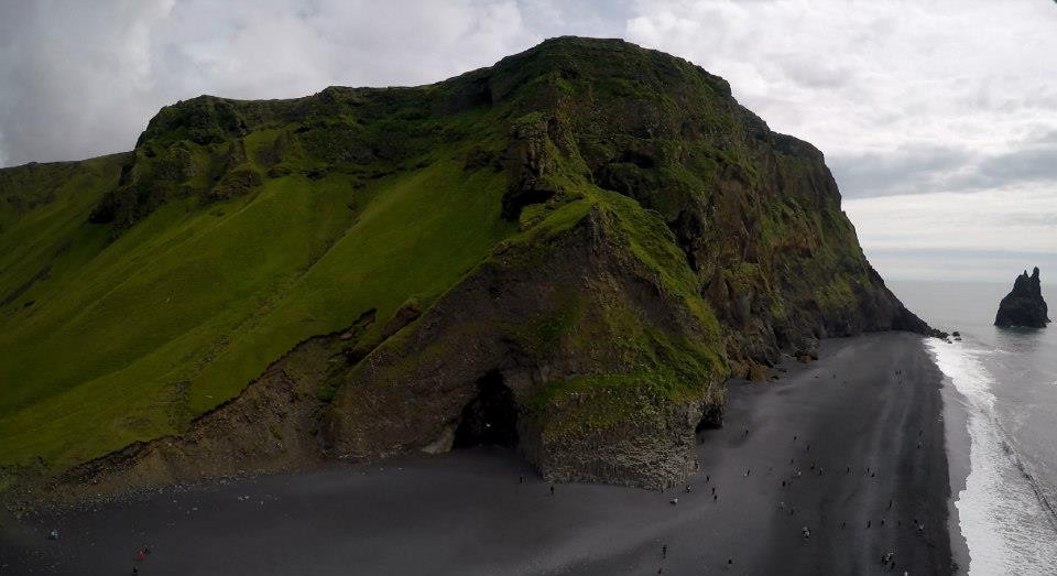 Iceland Drone aerial beach volcanic