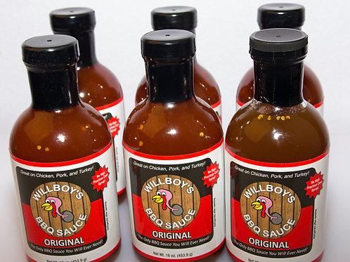 Willboy's Bbq sauce (Six Pack