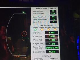 Human Vs Robot Air Hockey Video