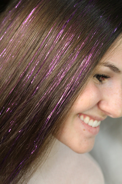 Lavender - Tape-in Tinsel Extensions