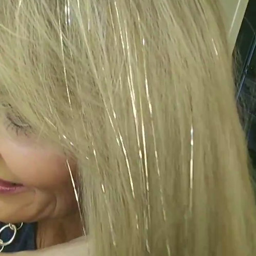 Blonde - Tape-In Tinsel Extensions