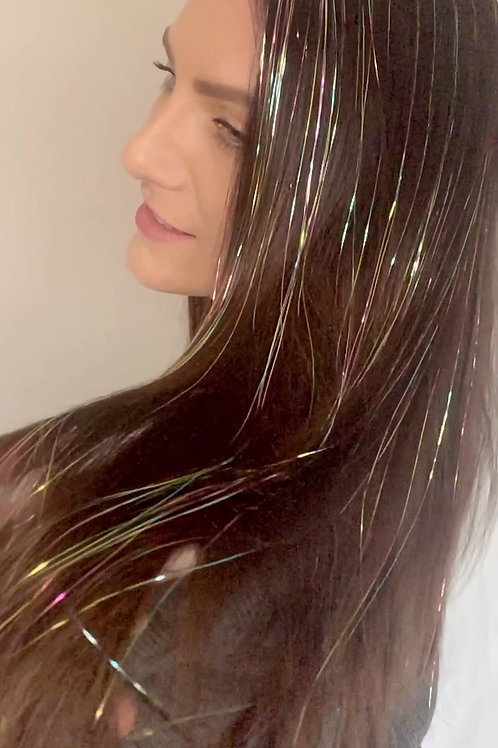 Pastel Rainbow - Tape-in Tinsel Extensions
