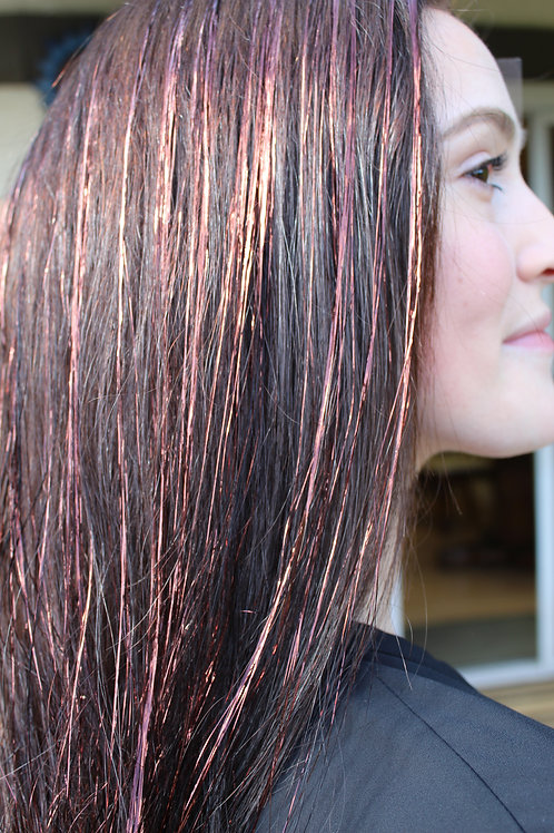 Auburn - Tape-In Tinsel Extensions