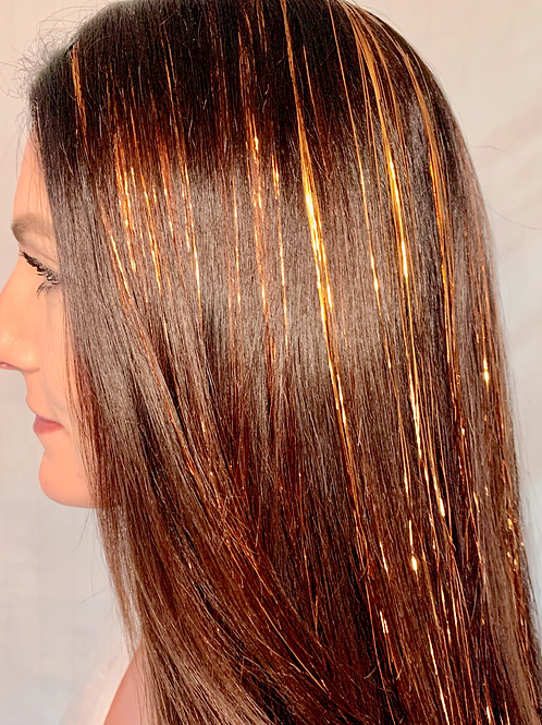 Copper - Tape-In Tinsel Extensions