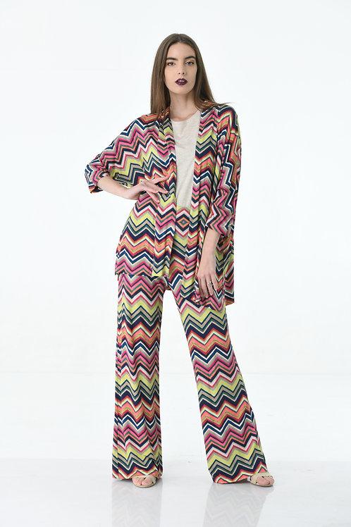Zigzag Patterned Pants