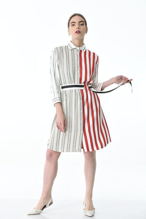 Black & red striped dress