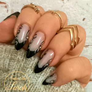 Nailart French Black Gold schwarz.jpg