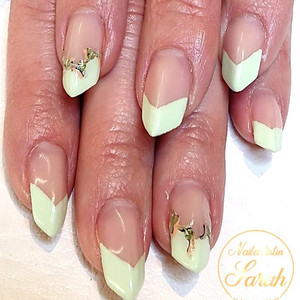 Edge Green NAilart french Nannildesign.j