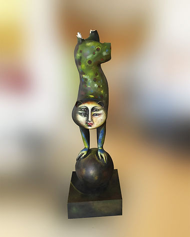 Sergio Bustamante Equilibrist Leopard | Jeff Meyer Art | Ceramic Restoration