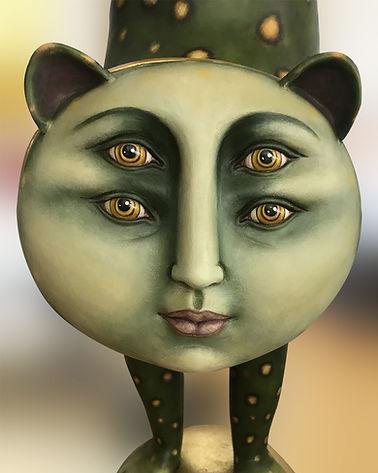 Sergio Bustamante Equilibrist Leopard | Jeff Meyer Art | Ceramic Restoration