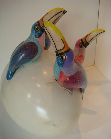 Sergio Bustamante Toucan Egg | Jeff Meyer Art | Ceramic Restoration