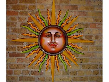 Sergio Bustamante Bright Wall Sun | Jeff Meyer Art | Paper Mache Restoration
