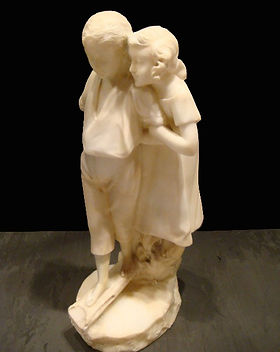 Antique Marble Children | Jeff Meyer Art | Marble Restoration