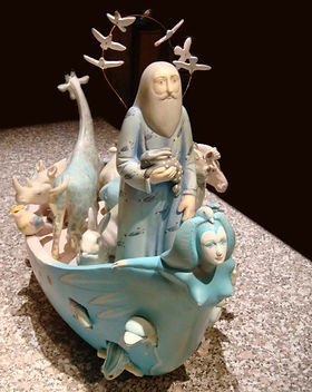 Sergio Bustamante Noah's Ark | Jeff Meyer Art | Ceramic Restoration