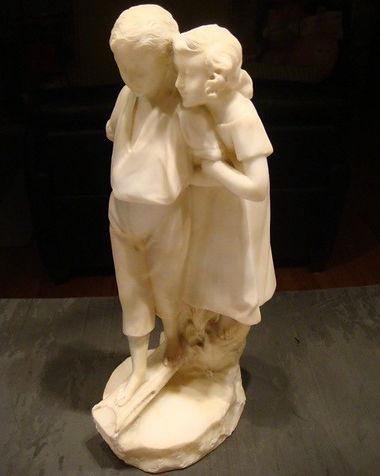 Antique Marble Children | Jeff Meyer Art | Marble Restoration