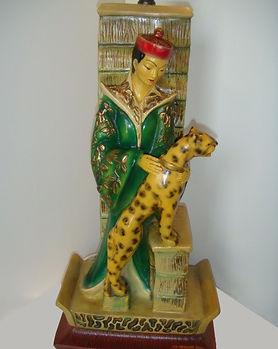 Vintage Oriental Lamp   Jeff Meyer Art   Plaster Restoration