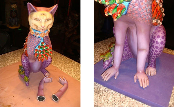 Sergio Bustamante Cat BEFORE and AFTER