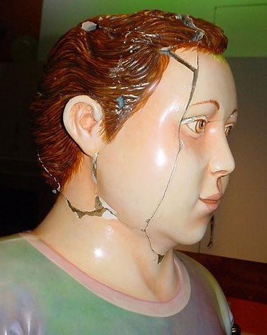 Sergio Bustamante Boy with Ball   Jeff Meyer Art   Ceramic Restoration