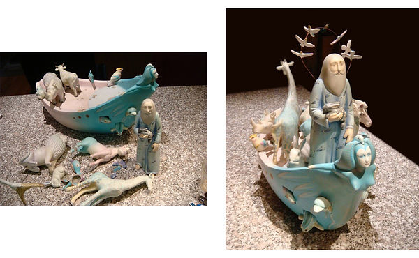 Sergio Bustamante Large Noah's Ark BEFORE and AFTER