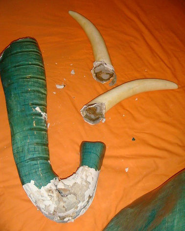 Sergio Bustamante Elephant Head | Jeff Meyer Art | Paper Mache Restoration
