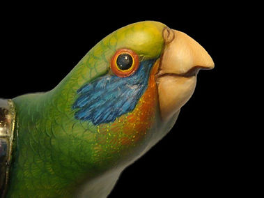 Sergio Bustamante Parrot | Jeff Meyer Art | Ceramic Restoration