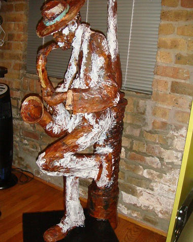 Jazzman | Jeff Meyer Art | Paper Mache Restoration