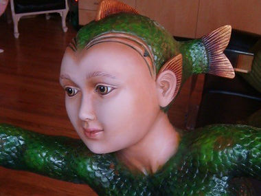 Sergio Bustamante Fish Boy | Jeff Meyer Art | Ceramic Restoration